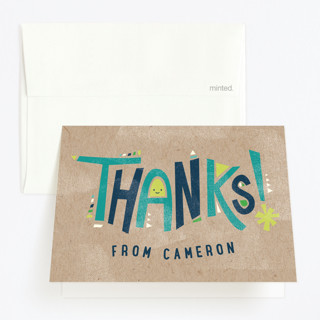 Happy Letters Childrens Birthday Party Thank You Cards