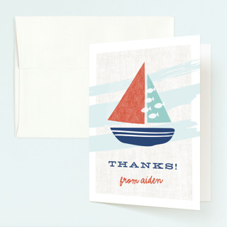Regatta Race Childrens Birthday Party Thank You Cards