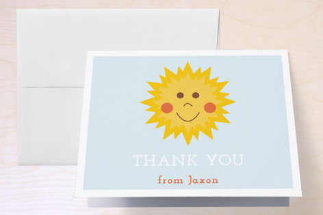 Our Little One Childrens Birthday Party Thank You Cards