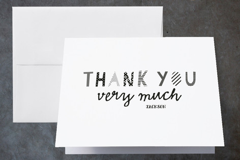 Paper Crafts Childrens Birthday Party Thank You Cards