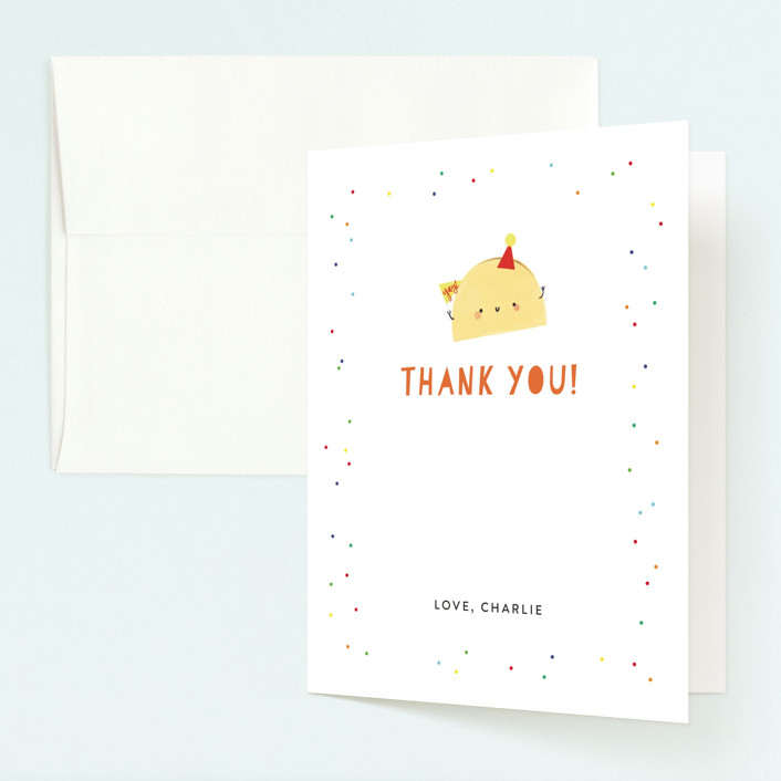 """""""1st Fiesta"""" - Childrens Birthday Party Thank You Cards in Spicy by Itsy Belle Studio."""