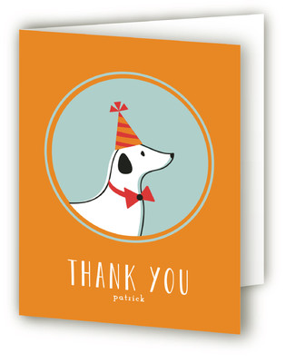 Party Pup Children's Birthday Party Thank You Cards