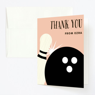 Lucky Strike Childrens Birthday Party Thank You Cards
