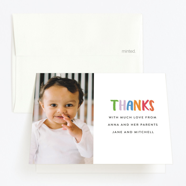 """""""Confetti Sprinkle"""" - Childrens Birthday Party Thank You Cards in Gumdrops by Up Up Creative."""