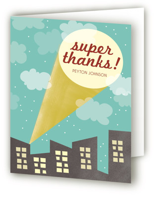 Superhero Party Children's Birthday Party Thank You Cards