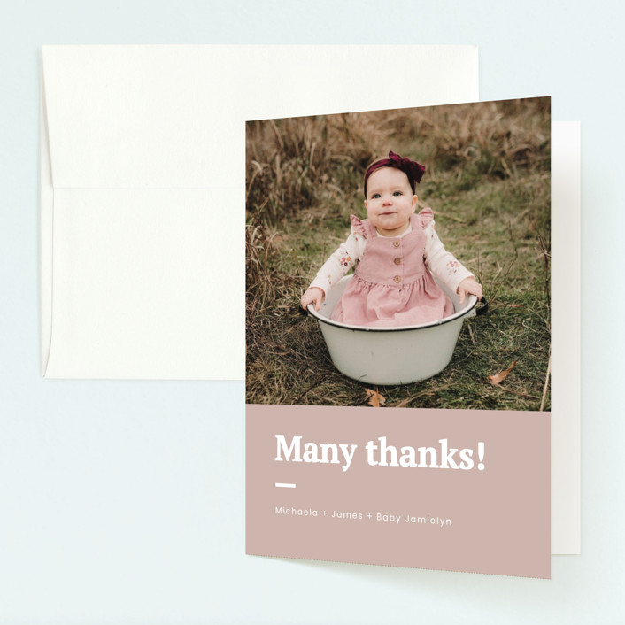"""""""Made it"""" - Childrens Birthday Party Thank You Cards in Blush by Adelyn T.."""