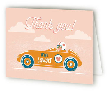 Speed time Children's Birthday Party Thank You Cards