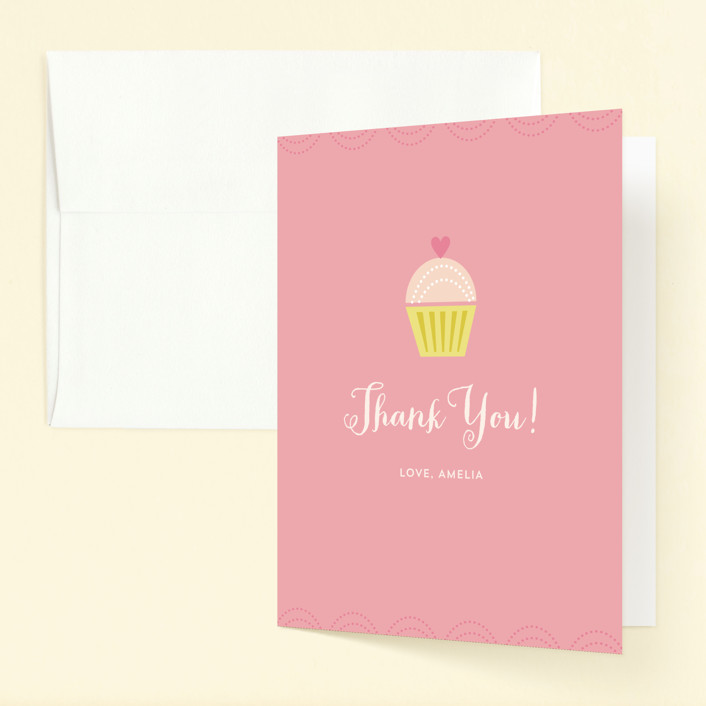 """""""Sweet Treat"""" - Childrens Birthday Party Thank You Cards in Cotton Candy by Shannon Hays."""