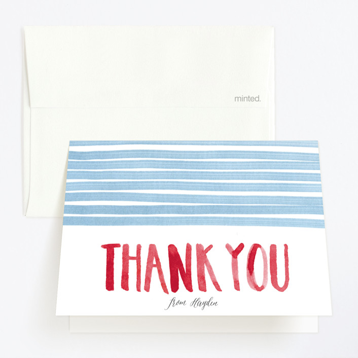 """""""To the Pool"""" - Childrens Birthday Party Thank You Cards in Pool by Lulaloo."""