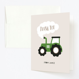 Happy Farm Childrens Birthday Party Thank You Cards