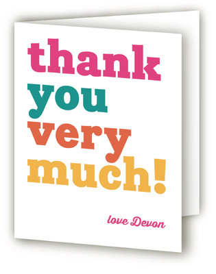 Yipee! Children's Birthday Party Thank You Cards