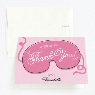 Spa-aah Day Childrens Birthday Party Thank You Cards