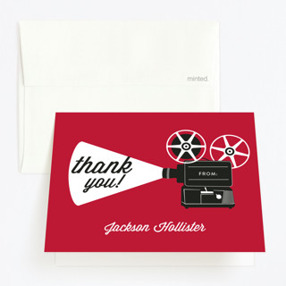 Movie Night Childrens Birthday Party Thank You Cards