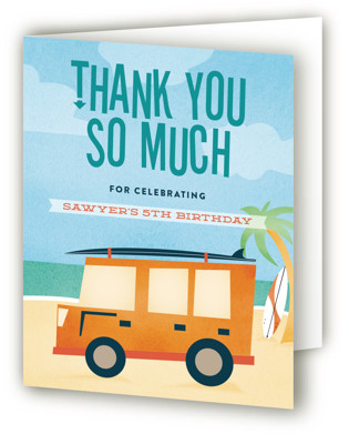 Cowabunga! Children's Birthday Party Thank You Cards