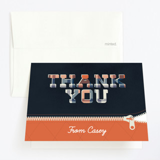 Camping Party Childrens Birthday Party Thank You Cards