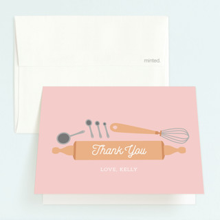 Fun Baking Childrens Birthday Party Thank You Cards