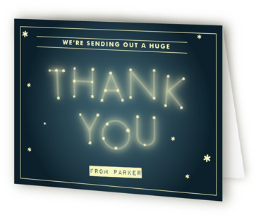 Starry Campout Children's Birthday Party Thank You Cards