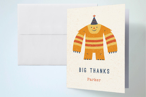 Monster Mash Childrens Birthday Party Thank You Cards