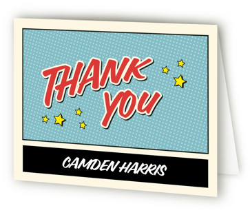 Superhero Birthday Party Children's Birthday Party Thank You Cards