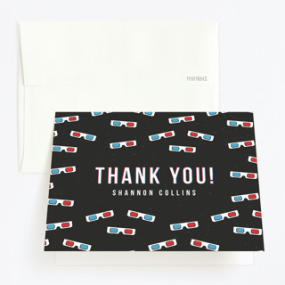 Anaglyph 3D Childrens Birthday Party Thank You Cards