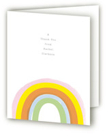 This is a orange kids thank you card by Baumbirdy called Little Rainbow with standard printing on strathmore in standard.