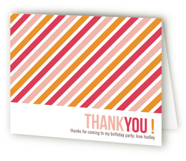 Birthday Type Children's Birthday Party Thank You Cards