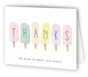 This is a green kids thank you card by Karidy Walker called sweet fun in the sun with standard printing on strathmore in standard.