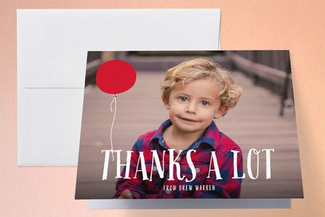 A Balloon Childrens Birthday Party Thank You Cards