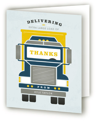 Truck Time Children's Birthday Party Thank You Cards