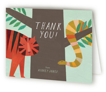 Jungle Animals Children's Birthday Party Thank You Cards