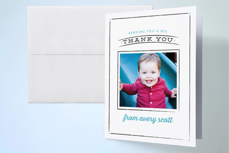 Cheerful Chalk Childrens Birthday Party Thank You Cards