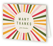 This is a green kids thank you card by Iveta Angelova called Color Burst with standard printing on strathmore in standard.