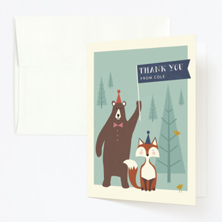 Into The Woods! Childrens Birthday Party Thank You Cards