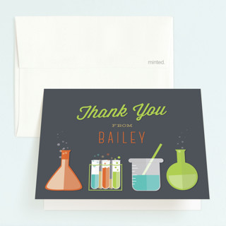 Mad Scientist Childrens Birthday Party Thank You Cards