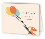 This is a green kids thank you card by Shiny Penny Studio called Birthday Bus with standard printing on strathmore in standard.