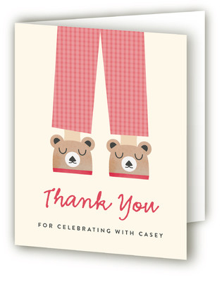 Pajama Party Children's Birthday Party Thank You Cards