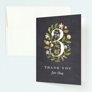 Climbing Roses Childrens Birthday Party Thank You Cards