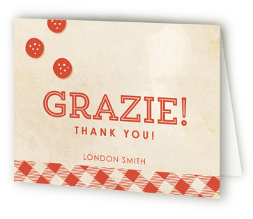 Let's Make Pizza Children's Birthday Party Thank You Cards