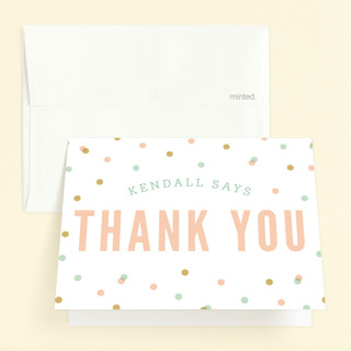 Ombre Pinata Childrens Birthday Party Thank You Cards