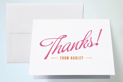 Carnival Candy Childrens Birthday Party Thank You Cards