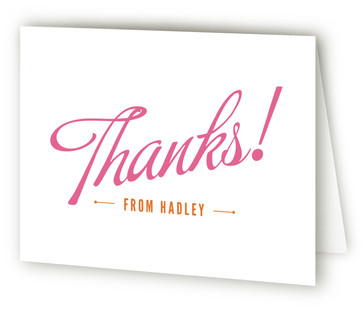 Carnival Candy Children's Birthday Party Thank You Cards