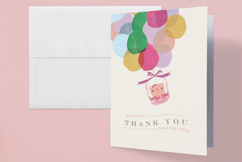 Balloons Childrens Birthday Party Thank You Cards