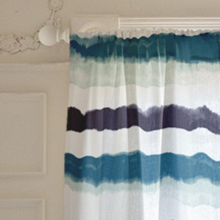 Bold Watercolor Stripes Curtains