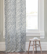 Painterly Ikat Curtains