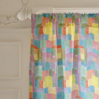 Patchwork Watercolor Curtains