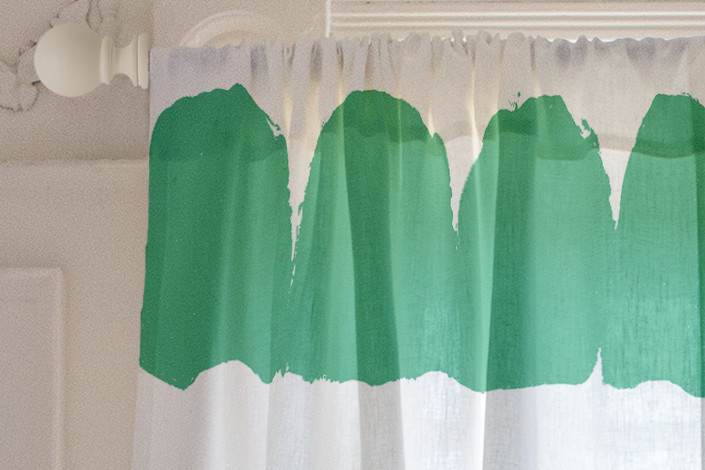 Half Moon Print And Pattern Curtains