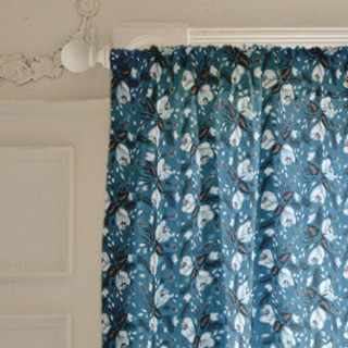 Midnight Bloom Curtains
