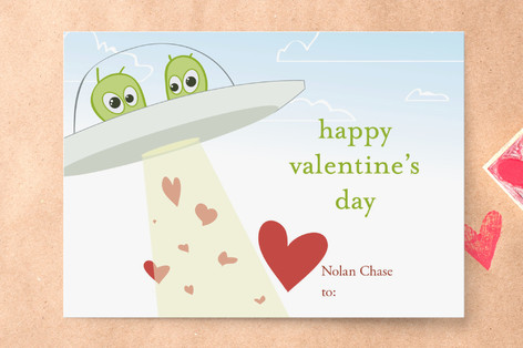 Love Abduction Classroom Valentine's Cards