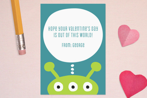 Alien Classroom Valentine's Cards