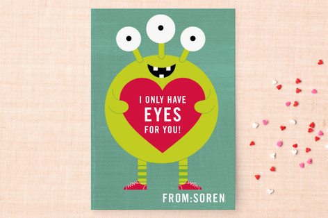 Eyes for You Classroom Valentine's Day Cards